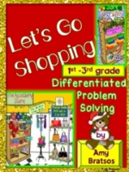 Christmas Shopping Problem Solving Task Cards & Activities