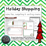 Holiday Shopping Project - sales tax, writing checks & balancing budget