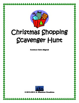 Christmas Shopping Scavenger Hunt
