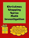 Christmas Shopping Spree Math Investigation