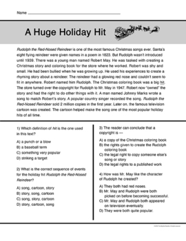 Christmas Short Reading Passages