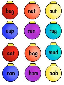 Christmas Short Vowel Word Sort Word Work