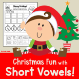 Christmas Activities:  Short Vowels (Kindergarten Phonics)