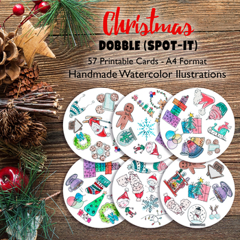 Christmas Sight Picture Card Game like Dobble Spot It Memory Playful Workshop