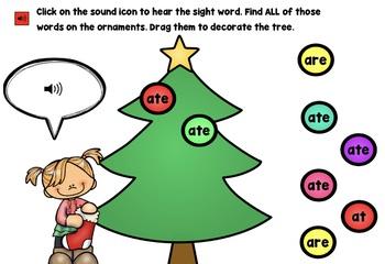Christmas Activities For Kindergarten.Christmas Activities Kindergarten 1st Grade Boom Cards Christmas Sight Words