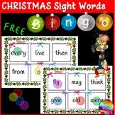 Christmas Sight Word BINGO Game Cards