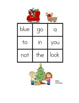 Christmas Sight Word Bingo