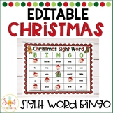 EDITABLE Christmas Sight Word Bingo