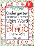 FREEBIE: Kindergarten Christmas Sight Word Bingo