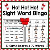 Christmas Sight Word Bingo - Ho! Ho! Ho!