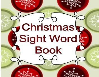 Christmas Sight Word Book
