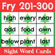 Christmas Sight Word Cards Fry 1-300