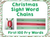 Christmas Sight Word Chains ~ First 100 Fry Words