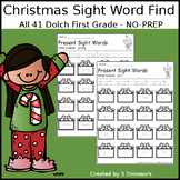 Christmas Sight Word Find: First Grade