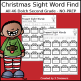 Christmas Sight Word Find: Second Grade