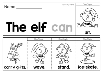 Christmas Sight Word Fluency Flip Books