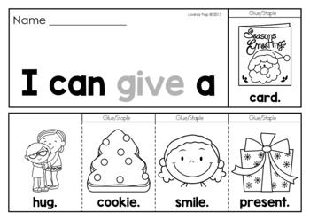 Christmas Sight Word Fluency Flip Books