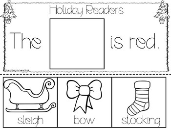 Christmas Sight Word Flip Books
