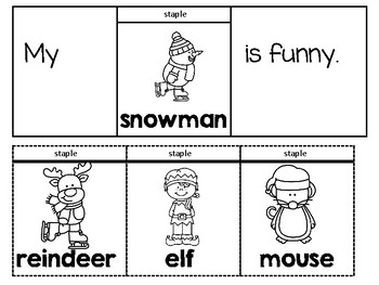 Christmas Sight Word Flip and Read