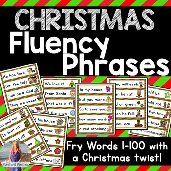 Christmas Sight Word Fluency Phrases [Fry 1-100]