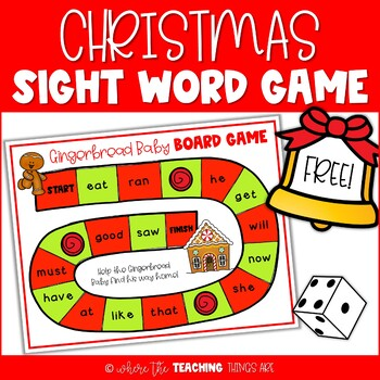 Christmas Sight Word Game | Gingerbread Baby Game