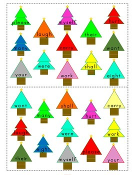 Christmas Sight Word Game {Freebie}