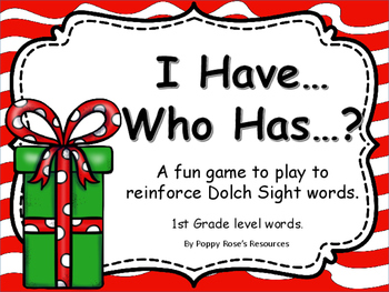 Christmas Sight Word Game I Have Who Has