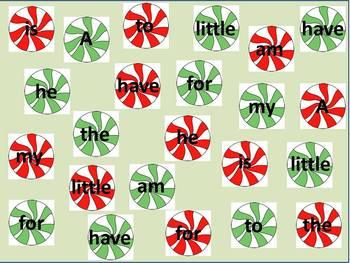 Christmas Sight Word Game PreK-K