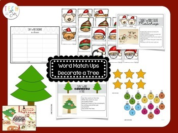 CHRISTMAS ACTIVITIES SIGHT WORD GAMES EDITABLE