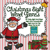 Christmas Sight Word Games Featuring the Dolch Words