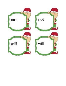 Christmas Sight Word Matching Bundle