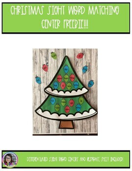 Christmas Sight Word Matching Center