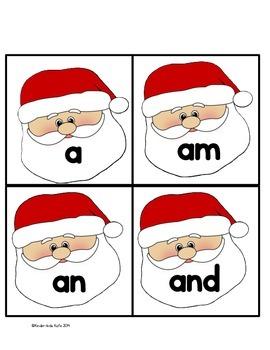 Christmas Sight Word Memory Game