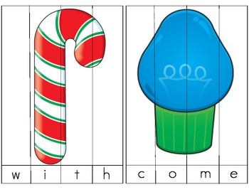 Christmas Sight Word Picture Puzzles