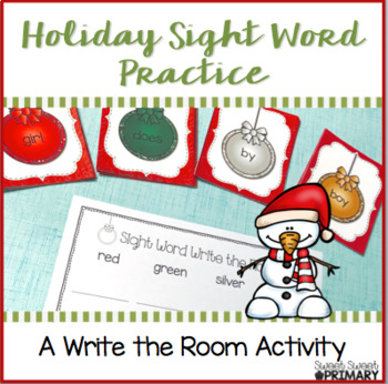 Christmas Sight Word Practice