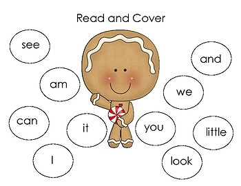 Christmas Sight Word Read and Cover