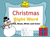 Christmas Sight Word Search Find and Color