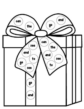 Christmas Sight Word Spin and Color **EDITABLE**