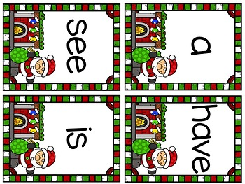 Christmas Sight Word Write-Around-the-Room