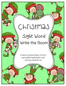 Christmas Write the Room Sight Words