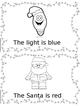 Christmas Sight Word and Colors book