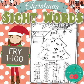 Christmas Sight Words Activity {Graphing Presents}FRY 1-10