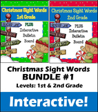 Christmas Sight Words BUNDLE #1 - Interactive!