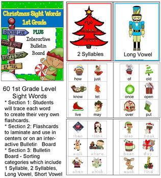 Christmas Sight Words BUNDLE #3- Interactive!