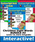 Christmas Sight Words BUNDLE #3- Interactive!