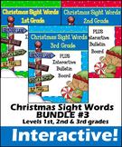 Christmas Themed Sight Words Bundle | 1st Grade | 2nd Grade | 3rd Grade