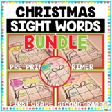 Christmas Sight Words Bundle 220 words Print and Go