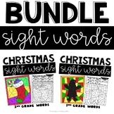 Christmas Sight Words Coloring Sheets with 2nd and 3rd Grade Words