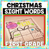 Christmas Sight Words First Grade Print and Go