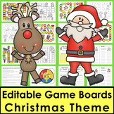 Christmas Activities Sight Words Game Boards - Last 118 Dolch
